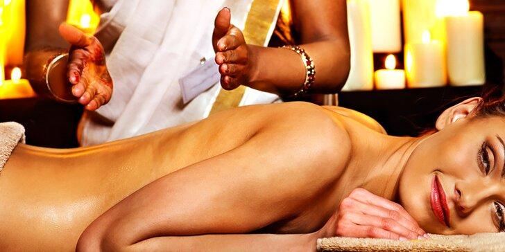 Uvoľňujúci ayurvédsky masážny balíček pre 1 osobu