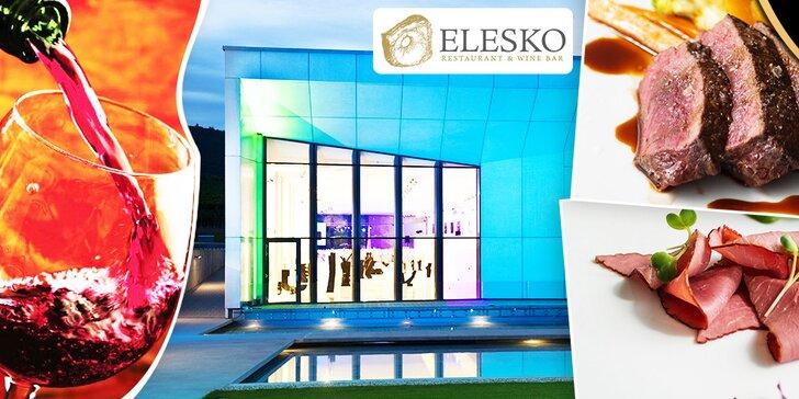 Gurmánske 5-chodové TASTING MENU s degustačnými vzorkami vína v reštaurácii ELESKO + vstup do ZOYA MUSEUM