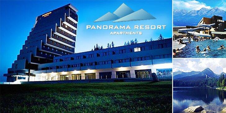 Luxusný hotelovo-apartmánový resort PANORAMA Štrbské Pleso + dieťa do 15 rokov zadarmo! Platné až do 30.9.2015!