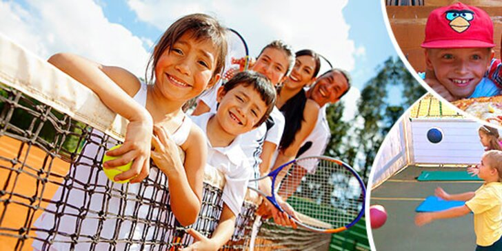 Denný tenisový tábor pre deti počas leta
