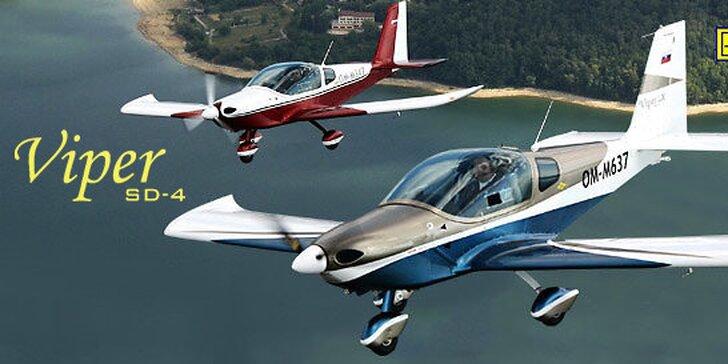 Jedinečný darček – let lietadlom Viper SD4 s možnosťou pilotovania