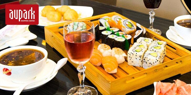 Výborné sushi v Auparku pre dvoch bez rezervácie
