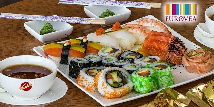 Výborné sushi pre 1 či 2 v Eurovea bez rezervácie