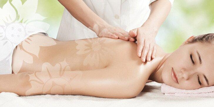Masáž chrbta, krku a šije alebo celotelová masáž