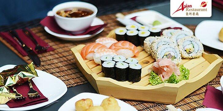 Ázijské menu pre dvoch alebo sushi set v Avione