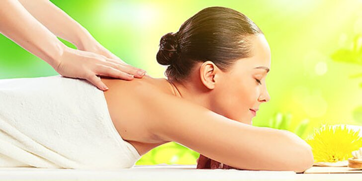 Uvoľňujúca, relaxačná masáž chrbta a celého tela