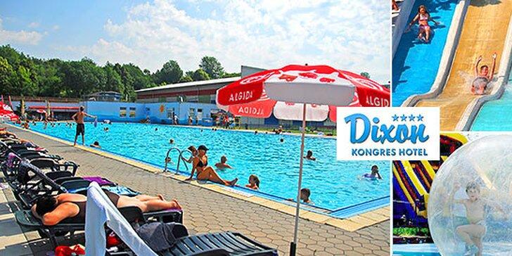 Letná dovolenka v Hoteli Dixon**** s celodennými vstupmi na plážové kúpalisko s Aqua Fun parkom priamo pri hoteli