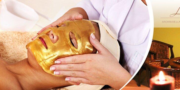 Luxusné pleťové ošetrenie 24-karátovým zlatom