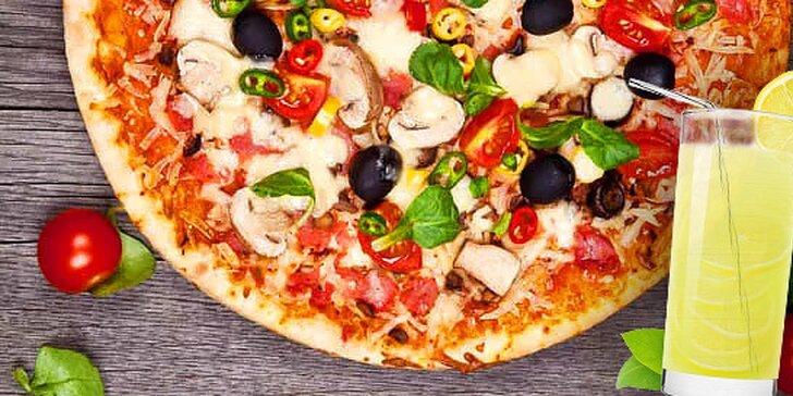 2x talianska pizza podľa vlastného výberu s citronádou v Bratislave