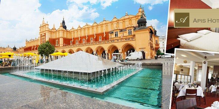 Oddych pre 2 osoby v Apis Hoteli*** v Krakove