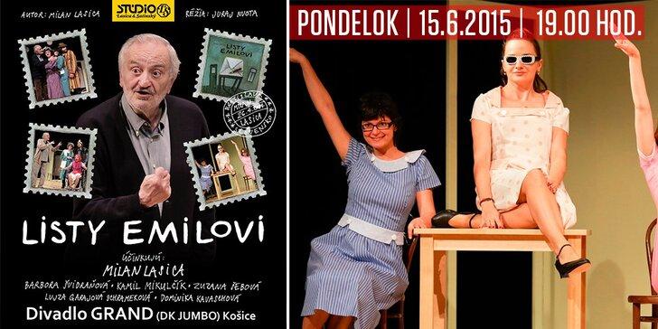 Predstavenie Listy Emilovi v Divadle Grand v Košiciach