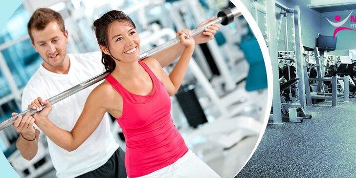 Tréning vo fitness centre NAYTILUS s osobným trénerom s možnosťou vypracovania jedálnička
