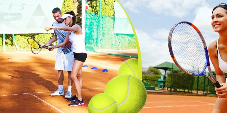 Individuálna hodina tenisu s trénerom alebo permanentky na 10 hodín