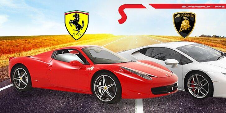 Precíťte dokonalý zážitok z jazdy na Lamborghini či Ferrari!