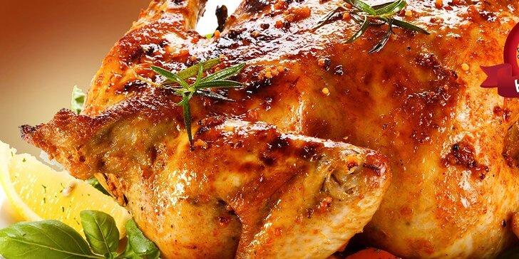 Celé grilované kura alebo obedové menu v HAPPY GRILL