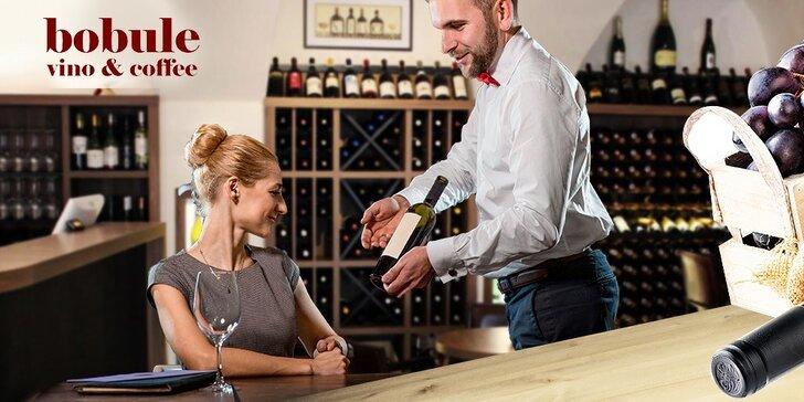 Neriadená degustácia vín pre dvoch alebo poukážka na nákup či konzumáciu vína