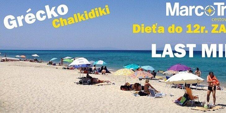LAST MINUTE dovolenka na 10-dní v Grécku za fantastické ceny. Dieťa do 12r. zdarma! Štúdia Viktória