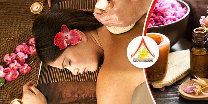 Tradičná thajská alebo aromaterapeutická olejová masáž pre pár či jednotlivca