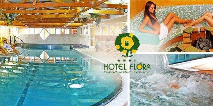 69 EUR za relaxačný pobyt v hoteli FLÓRA*** v Trenčianskych Tepliciach. Dokonalý relax v kúpeľnom meste, teraz so zľavou 50%!