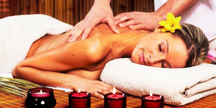 Klasická či relaxačná masáž chrbta a šije