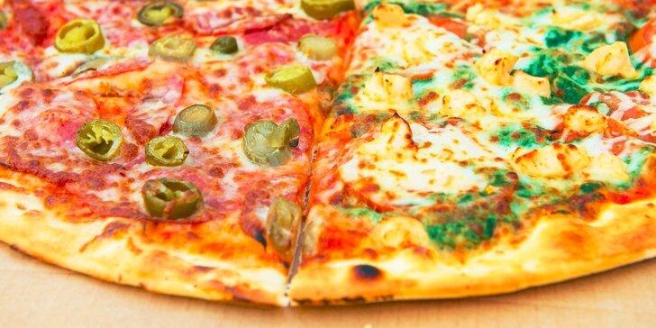 Rodinná párty pizza s priemerom 48 cm (1200 - 1430 gramov) od PIZZA HAMM: až 4 druhy na 1 pizzi na donášku