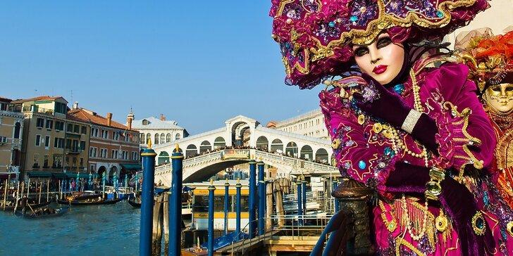 Vyberte sa na Benátsky karneval pohodlne z nástupných miest z celého Slovenska - užite si ostrovy Muráno a Buráno, romantickú Veronu či Jazero Bled a zámok Miramare