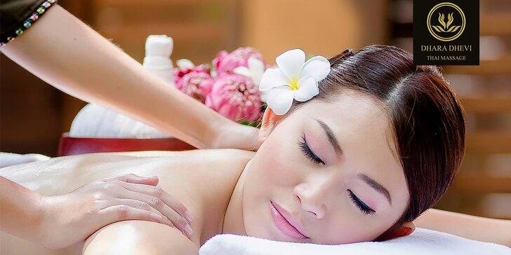 60-min. luxusná thajská špeciálna masáž chrbta a šije alebo masáž chodidiel v Dhara Dhevi