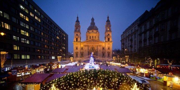 Historická Budapešť a návšteva tradičného vianočného mestečka bez príplatkov za nástupné miesto a s občerstvením na palube autobusu zdarma