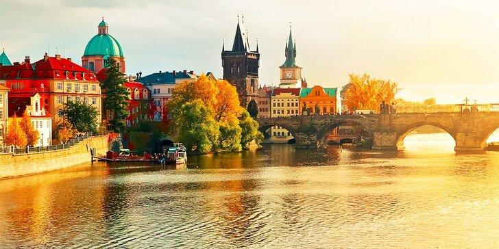 Pobyt v apartmáne priamo v historickom centre Prahy, bez stravy alebo s polpenziou s výhľadom na Vltavu