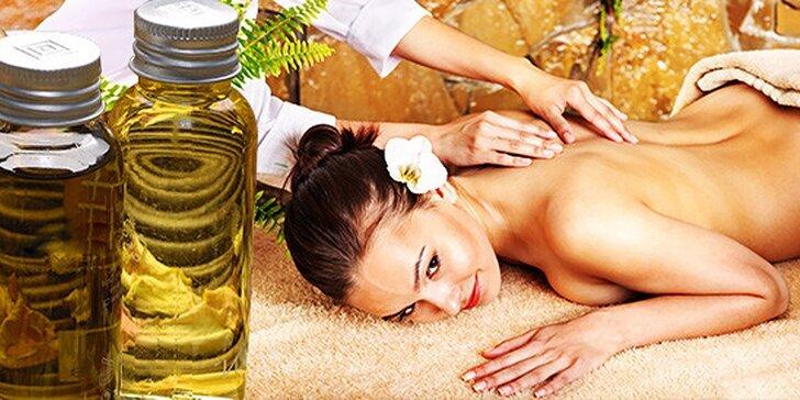 Relaxačná aromaterapeutická olejová masáž celého tela, osviežujúca thajská masáž chrbta alebo športová masáž