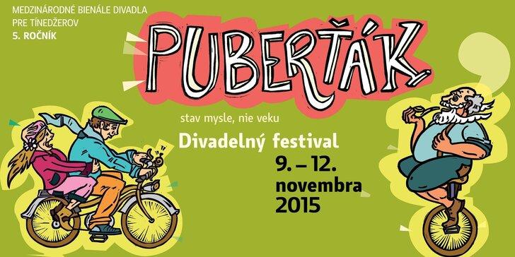 """Festival PUBERŤÁK 2015 - dve predstavenia, """"Pozor, double stress!"""" a """"Pozor, dobrý pes!"""", v cene jedného"""