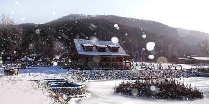 Zimný pobyt pre dvoch i pre partie v zruboch pod Borovicou