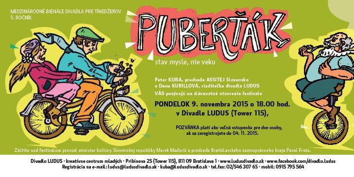 Predstavenie VŠETKO ZA NÁROD alebo (APPLE PIE), divadlo LAB, vrámci festivalu Puberťák 2015 12.11.2015 o 19:00
