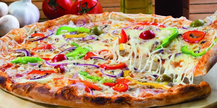 Talianska pizza, rizoto alebo cestoviny + dezert pre dve osoby