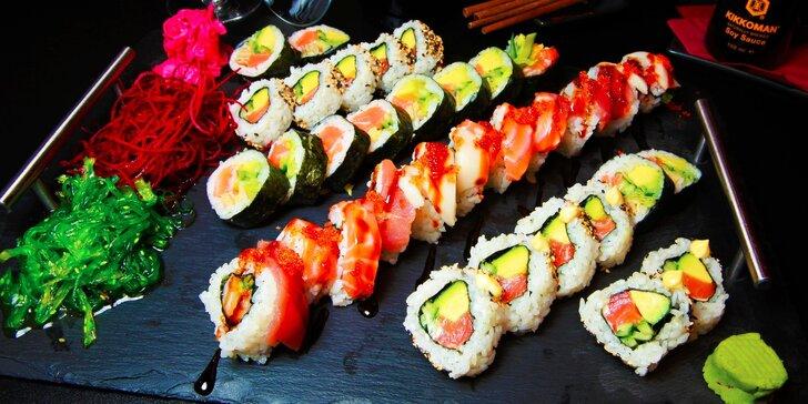 36 ks poctivého sushi z rýb a fľaša Prosecca