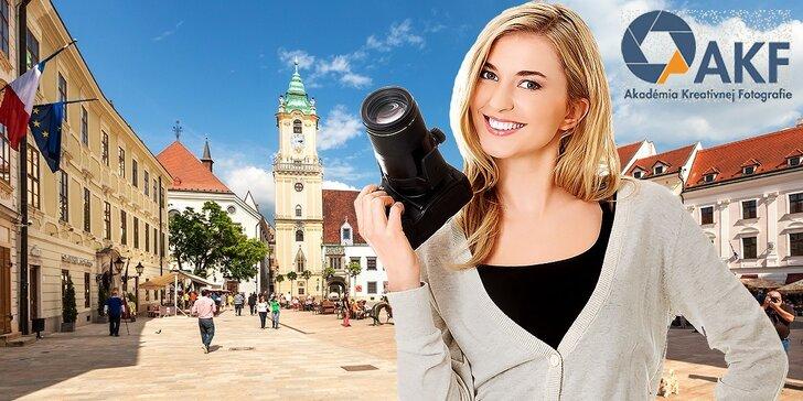 Škola kreatívnej fotografie: FotoPotulky Bratislavou - Hľadanie svetla