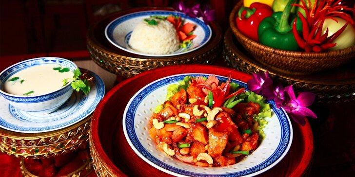 Thajské menu v originálnej thajskej reštaurácii NAAM THAI FOOD