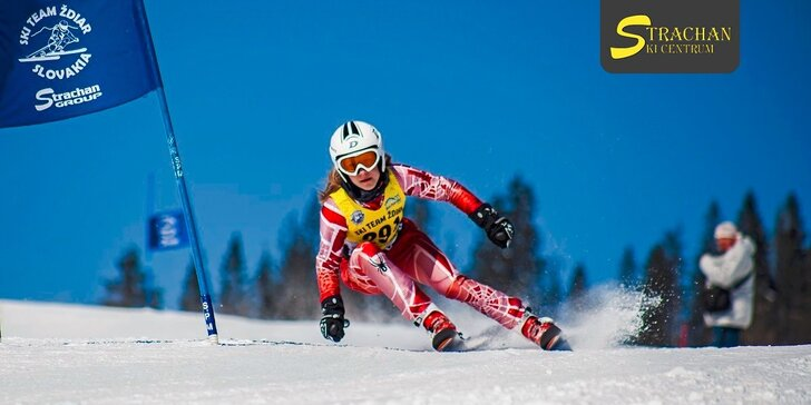 4-hodinový skipas do strediska Strachan ski centrum