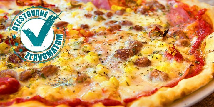 Pizza pre dvoch alebo jedného hladoša. Vyberajte z 12 druhov!