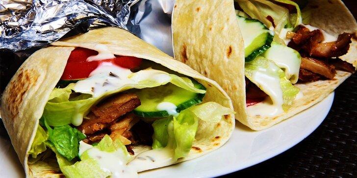 2x vynikajúci kurací kebab v placke pre dvoch