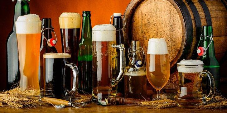 Päť veľkých pív podľa výberu (5 x 0,5 l) v Kráľovskom pivovare Korzo
