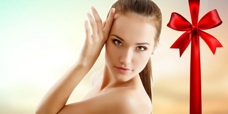 Masáž tváre, peeling a kupón na ďalšie procedúry