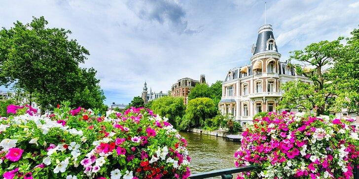 Poznávací zájazd na 4 alebo 5 dní do Amsterdamu, na výstavu kvetov Keukenhof a do Bruselu alebo Bruggy podľa výberu