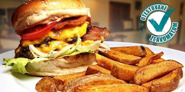 Hovädzí burger v Staromestskom pube