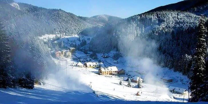 Skvelý víkendový pobyt v Slovenskom raji s polpenziou a ubytovaním priamo pri lyžiarskom vleku!