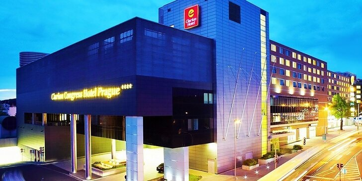 Luxusný Clarion Congress Hotel**** Prague, vstup do metra pod hotelom!