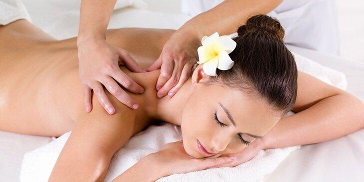 Uvoľňujúce relaxačné masáže chrbta a celého tela