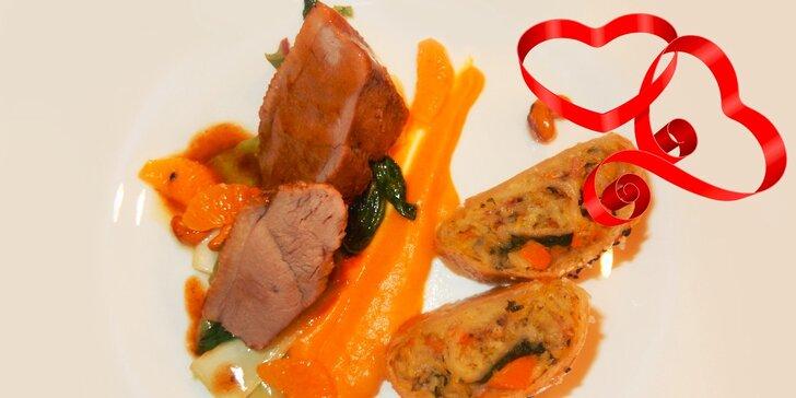 Luxusné valentínske degustačné 5-chodové menu pre dvoch