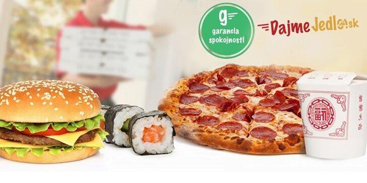 Jedlo v hodnote 8 € iba za 3 €!
