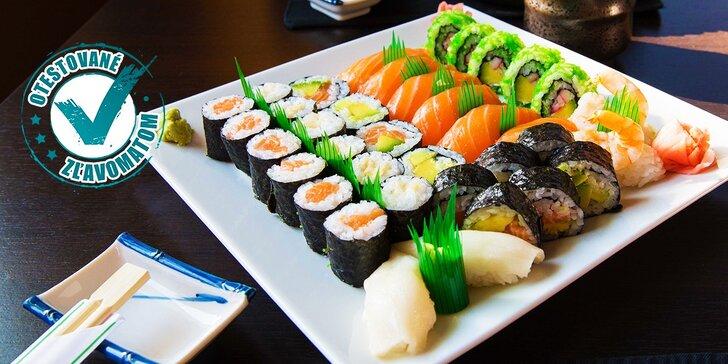 Lahodné sushi menu podľa výberu pre dvoch